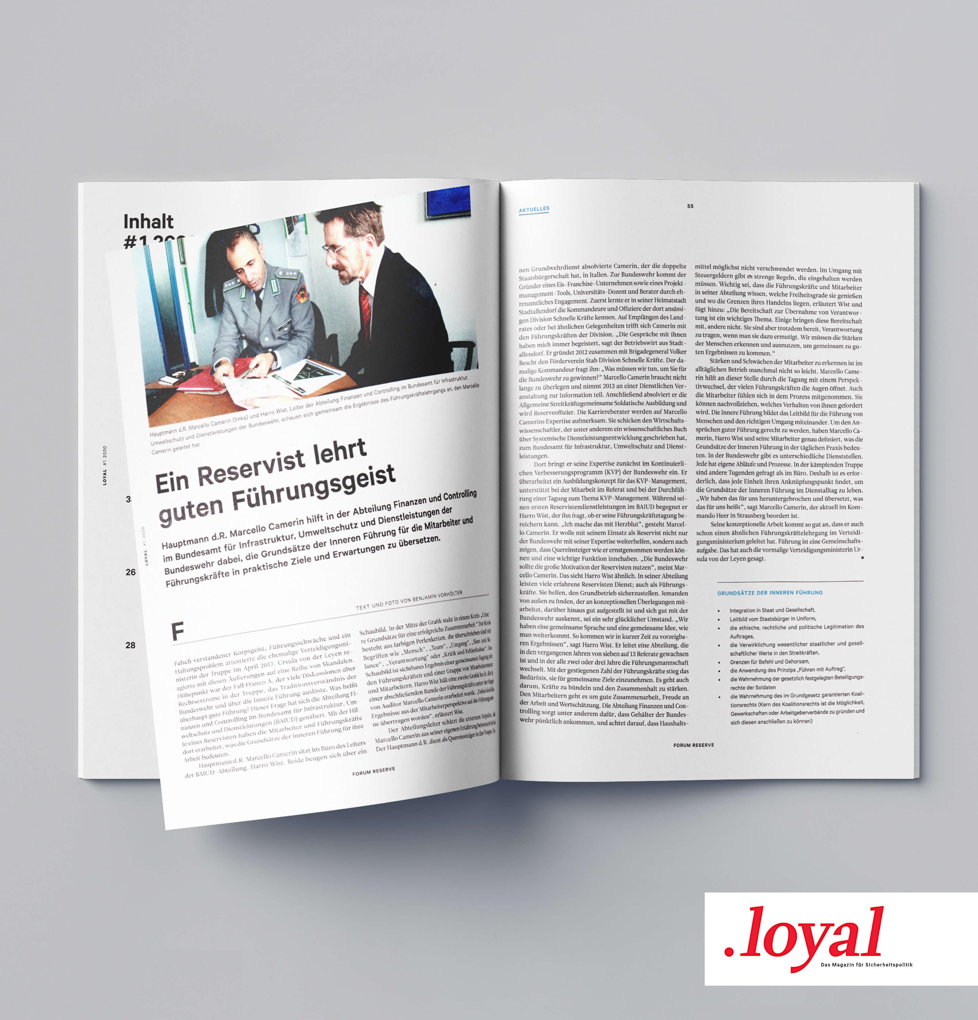 Loyal - Ein Reservist lehrt guten Führungsgeist